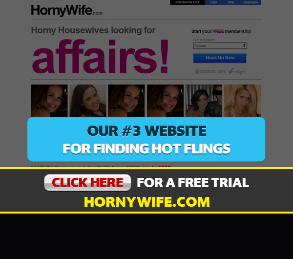 Homepage Screen Shot For HornyWife.com