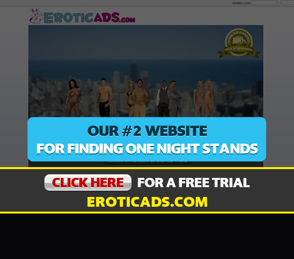 Homepage Screen Shot For EroticAds.com